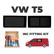 1x VW T5 Transporter Driver Side Tinted Sliding Window,1 x Pass FIXED + FIT KIT