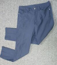 LULULEMON navy blue stretchy flat front slacks sz 32
