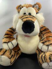 "Vintage 1993 The Manhattan Toy Company Tiger Sitting 12"" Plush Stuffed Animal"
