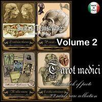 anatomia vintage tarocchi carte antiche medicina chirurgia farmacia mappe set V2