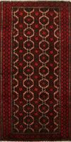 Geometric Balouch Afghan Oriental Area Rug Wool Hand-Knotted Kitchen Carpet 2x4