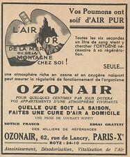 Z9966 OZONAIR l'air pur -  Pubblicità d'epoca - 1937 Old advertising
