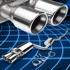 """3"""" Double Walled Dual Tip Catback Exhaust for 1997-2001 Audi A4 1.8L Quattro"""