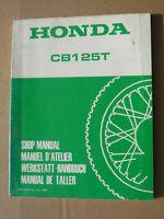 Honda CB125 T Werkstatt - Handbuch_Shop Manual_Manuel D ´Atelier_Taller_Buch
