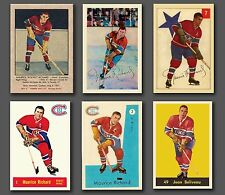 Maurice Richard, (6 Card Combo), Reprint Parkhurst 1951 to 1961, Mint & Sharp