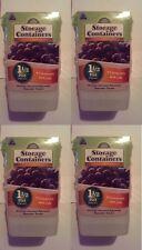 """(4) 4 packs Arrow Plastic 00043 1.5 Pint 4""""x4""""x4"""" Freezer & Storage Containers"""
