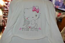 peignoir neuf hello kitty taille M hm blanc hello dos poids froise car dans sac