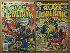 2x Black Goliath Marvel Comics, No 2 and No 3, Bronze Era, UK Comic