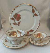 5 Piece Bavaria Waldershof WLD39 Dessert China 22k Gold Roses
