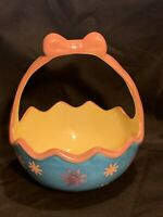 Vintage Ceramic Easter Basket Easter Planter Spring Decor