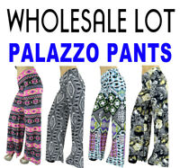 Lot of 10 Womens Palazzo Pants - SIZE S-2XL - Wide Leg Trousers Leggings Aztec