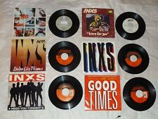"INXS - (6) 7"" Singles - NEED YOU TONIGHT This Time BURN FOR YOU Good Times ++ 45"