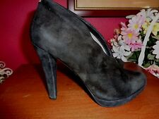MICHAEL KORS 6M BLACK SUEDE 4 INCH HEEL BOOTIE SHOES IN VERY GOOD CONDITION.