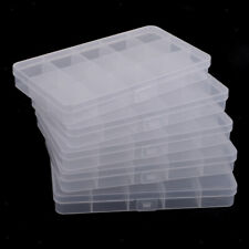 5Pc 15Grids Plastic Organizer Container Storage Box for Jewelry Beads