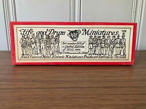 Fife and Drum 54mm Miniature Toy Soldiers - Seventh Cavalry