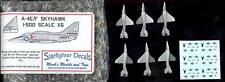 "Starfighter Models 1/500 A-4E/F ""HUMPBACK"" SKYHAWK Planes for Revell Carriers"