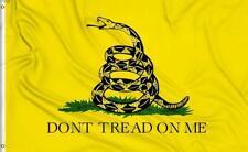 Dont Tread On Me Flag 3x5 Ft Yellow Tea Party Rattlesnake Gadsden Don't Tread