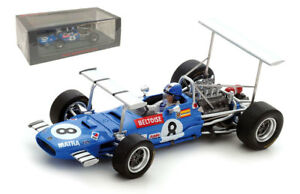 Spark S5382 Matra MS10 #8 South Africa GP 1969 - Jean-Pierre Beltoise 1/43 Scale