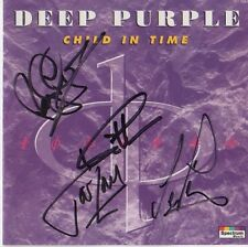 "Deep Purple Autogramme signed CD Booklet ""Child In Time"""