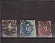 BELGIUM 1861 IMPERFORATE STAMP GROUP USED SG 13-15 CV £123