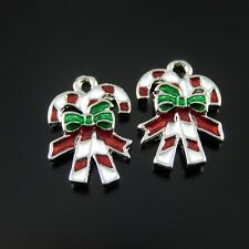 10pcs Fashion Enamel Alloy Christmas Xmas Bow-knot Shape Pendant Charms 52152