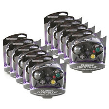 Wholesale Lot of 10 GameCube BLACK Rumble Controller Pad Teknogame New (Wii)