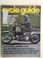 Cycle Guide Magazine December 1970- Harley-Davidson Super Glide