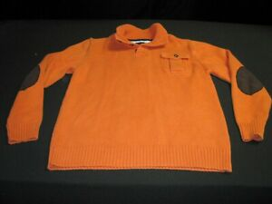 Tommy Hilfilger Boys Youth Large Crewneck Sweater Orange ~ 7861
