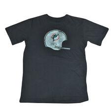 NFL Reebok Vintage Miami Dolphins Ragazzi Sketch Casco T-Shirt DK3126 Large