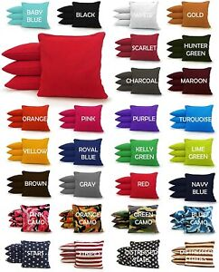 8 All Weather Regulation Corn Hole Bags - 25+ Colors -High Quality -Resin Filled