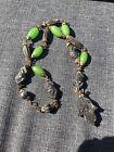 Vtg Skhab Necklace Tribal Ethnic Green Bakelite Beads Pos On Simichrome N.Africa