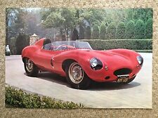 INNOCENTI S Cabriolet Advert & JAGUAR D-TYPE 1950's Poster SPORTSCAR