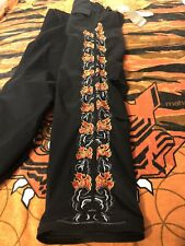 Maharishi Black Flame Embroided Skinny 7/8 Sno Pant Trousers Size 12 BNWT
