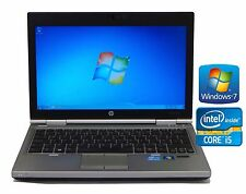 HP EliteBook 2570p Laptop Core i5 3360M Wifi 8GB Ram 320GB HDD Cámara web Windows 7