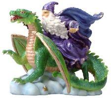 NEW IN BOX ALABASTRITE MERLIN WIZARD RIDING DRAGON STATUE COLLECTIBLE #7