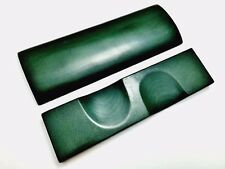 Pair of Green+Black Canvas Micarta Scales Knife Handle Making Blanks Bush Crafts