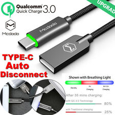 Mcdodo Qc3.0 Led Auto Disconnect Usb-C Type-C Fast Charging Sync & Charge Cable