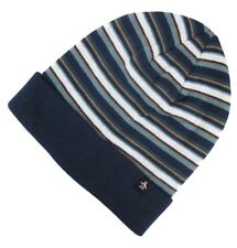 Original Penguin Mens Turn up Boreal Blue Multi Striped Beanie Hat One Size e1dd2d323eb6