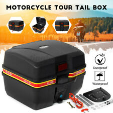 Motorcycle Trunk Hard Tail Bike Top Box Rack Mount Luggage Carrier Case Keys