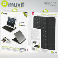 MUVIT ALUMINIUM BLUETOOTH KEYBOARD SMART CASE COVER STAND APPLE IPAD 2 3 4