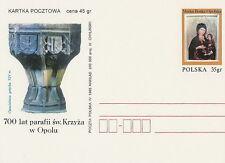 Poland prepaid postcard (Cp 1092) 700 years of the parish OPOLE