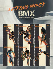 Micronesia- Extreme Sports- Bicycle Motorcross Stamp - Sheet of 6 MNH