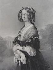 LOUISE REINE DES BELGES NÉÉ LOUISE MARIE CHARLOTTE ISABELLE PRINCESSE D'ORLEANS