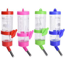 Plastic Water Drinking Bottle Carrying Dispenser For Hamster Mouse Pets 125ML