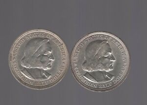 1893 Silver Columbian Exposition U.S. Commemorative Half Dollar - 2 coin lot!