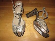 m&s autograph snake print high heel peep toe shoes size 5.5 eu 39 brand new tags