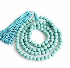 8mm Howlite Turquoise Tibet Buddhist 108 Prayer Beads Mala Necklace JN35