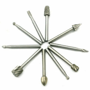 10pcs Steel Rotary file Wood With A High-Speed Wood Carving Flower Knife