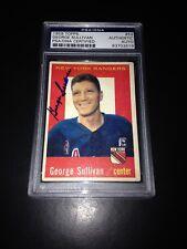 George Red Sullivan Signed 1959-60 Topps NY Rangers Card PSA Slabbed #83703519
