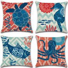 New Ocean Beach Sea Linen Pillow Case Sofa Throw Cushion Cover Home Car Decor18""